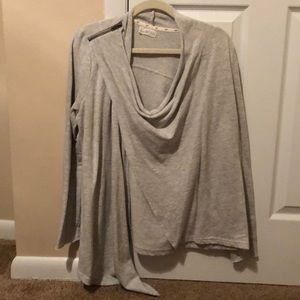 AE wrap zip up light weight sweater